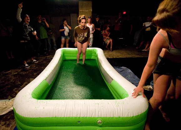 Jello wrestling pool